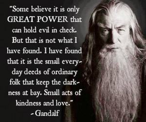 Darkness at bay gandalf