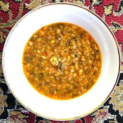 High Protein Indian lentil soup